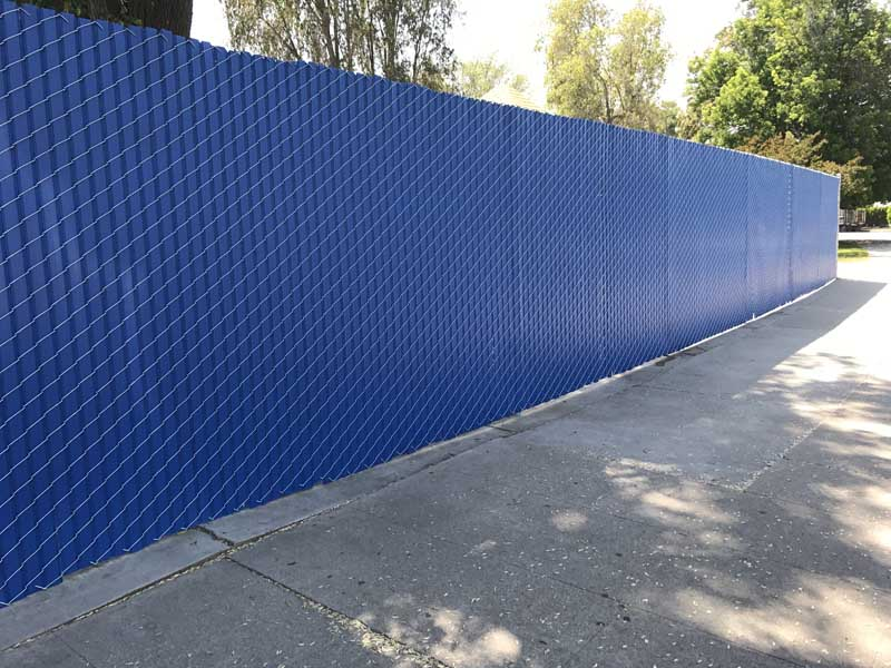 privacy slats for chain link fence in los angeles